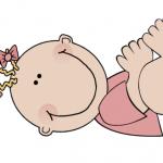 Baby-girl-lying